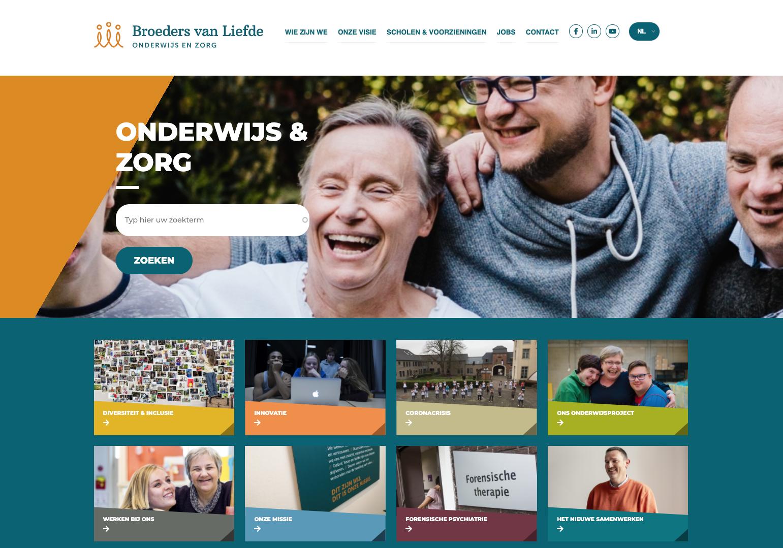 Broeders van Liefde website screenshot